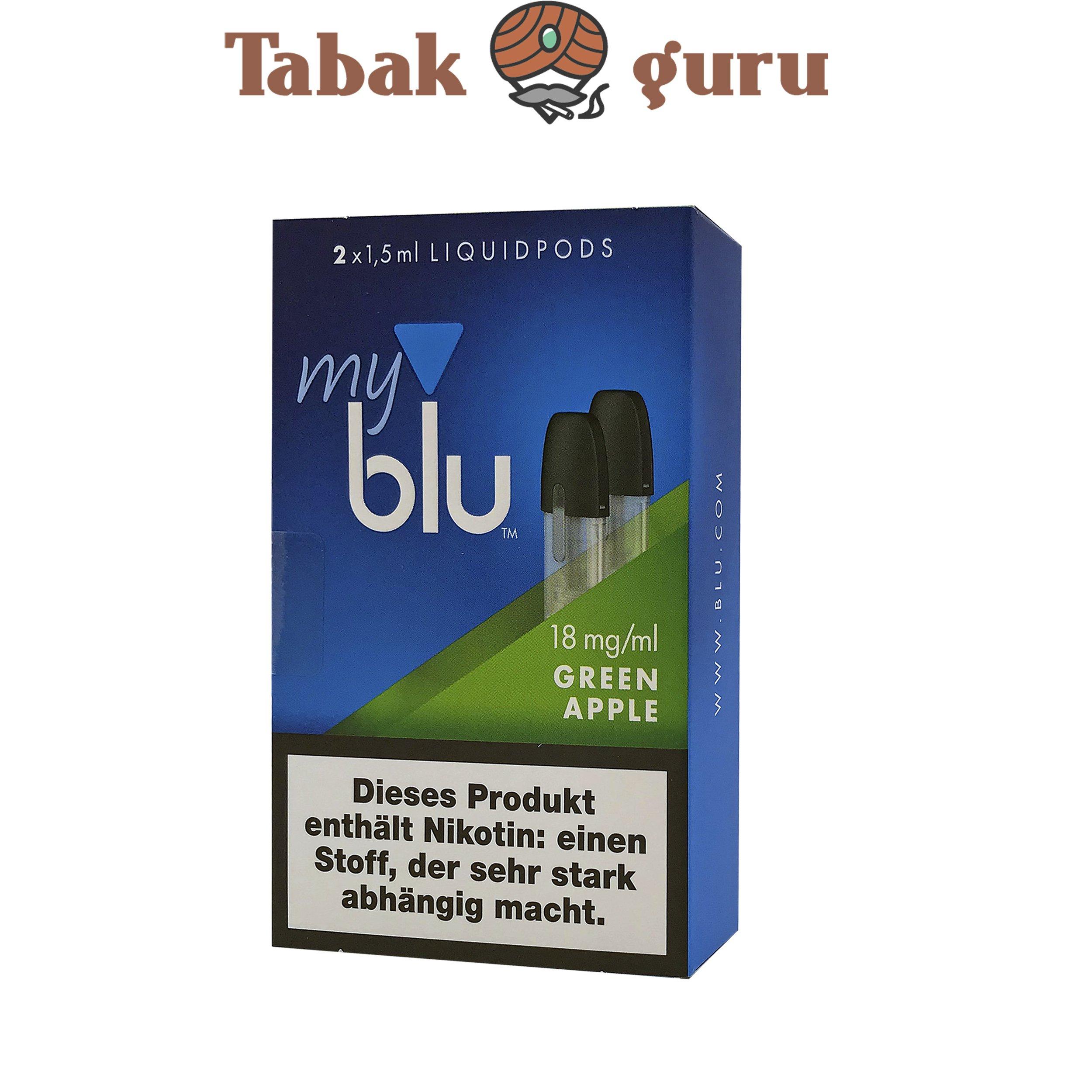 My Blu Liquid Pods Green Apple 18 mg/ml Nikotin