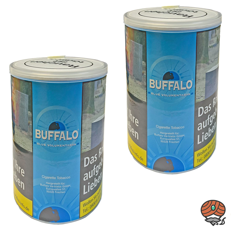 2x Buffalo Blue / Blau Volumentabak Dose à 75g