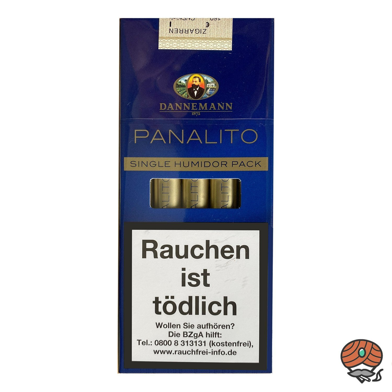 Dannemann Panalito Zigarren im Single Humidor, 5 Stück