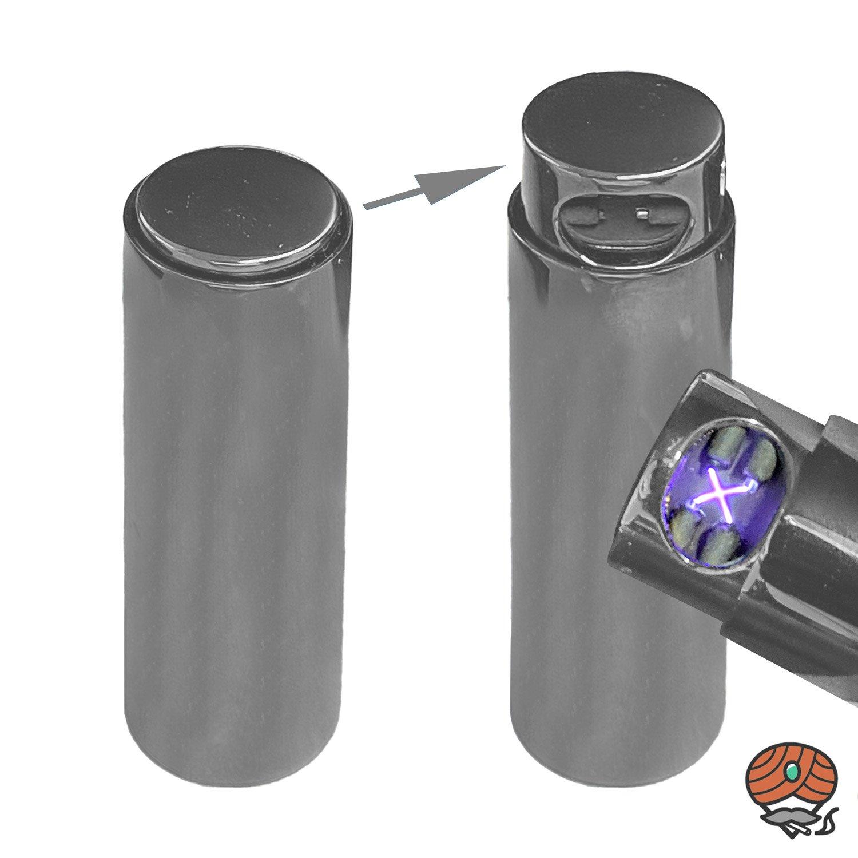 Cozy X-Arc LIPSTICK Feuerzeug mit Lichtbogen-Technik, Chrom matt, per USB aufladbar
