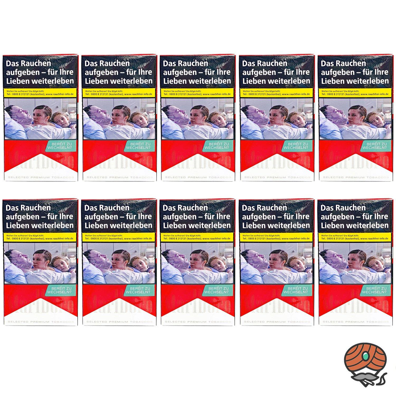 Stange Marlboro Red Long Zigaretten 10x20 Stück