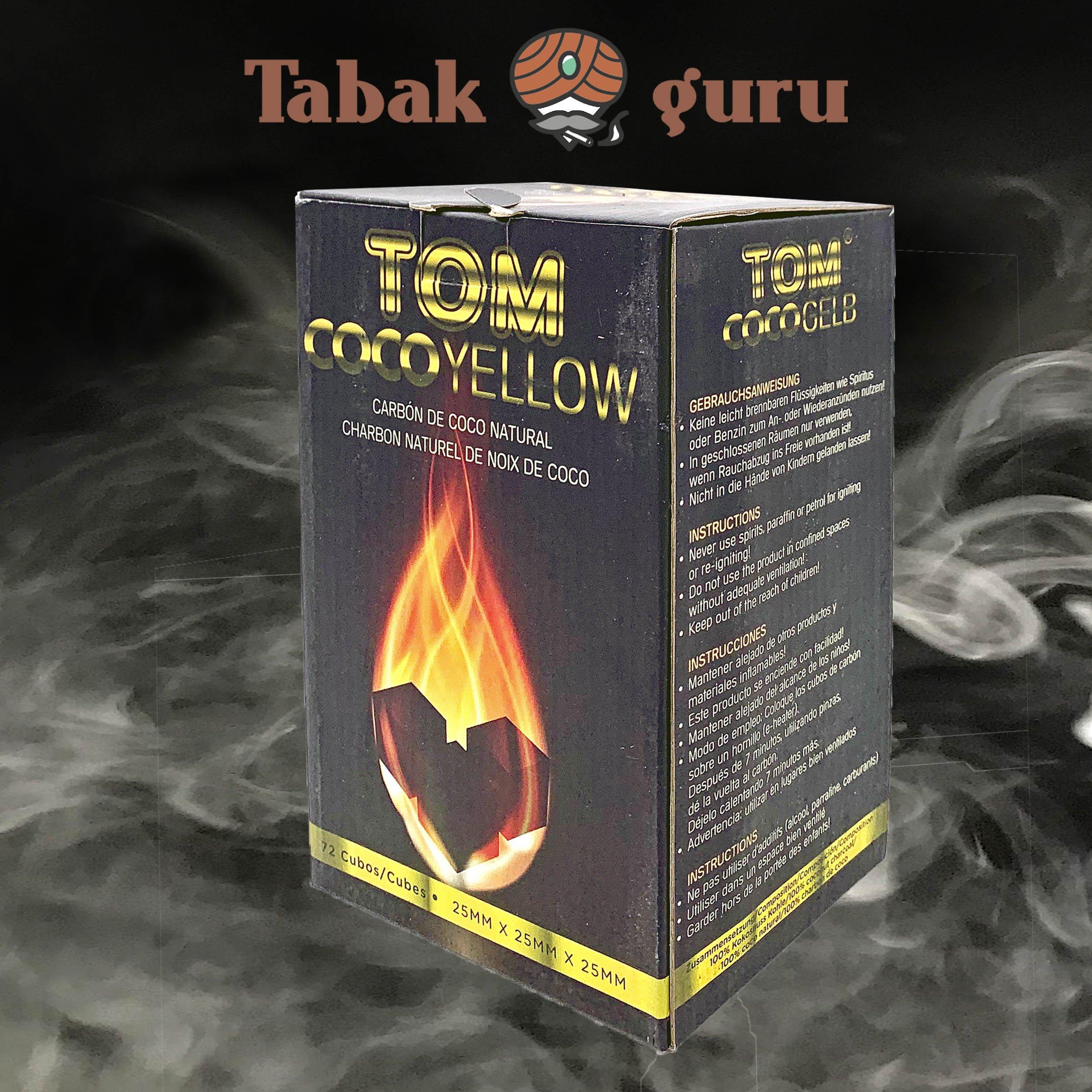 Tom Cococha CocoYellow Shishakohle / Wasserpfeifenkohle 1 kg