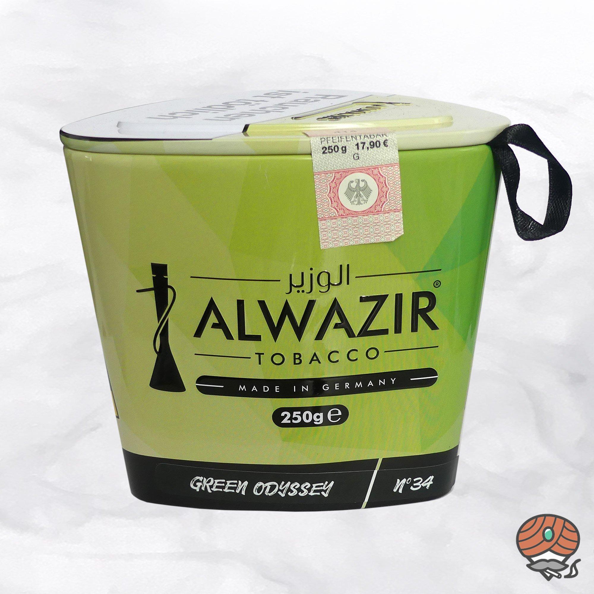 Alwazir Shisha Tabak - No. 34 - GREEN ODYSSEY 250g