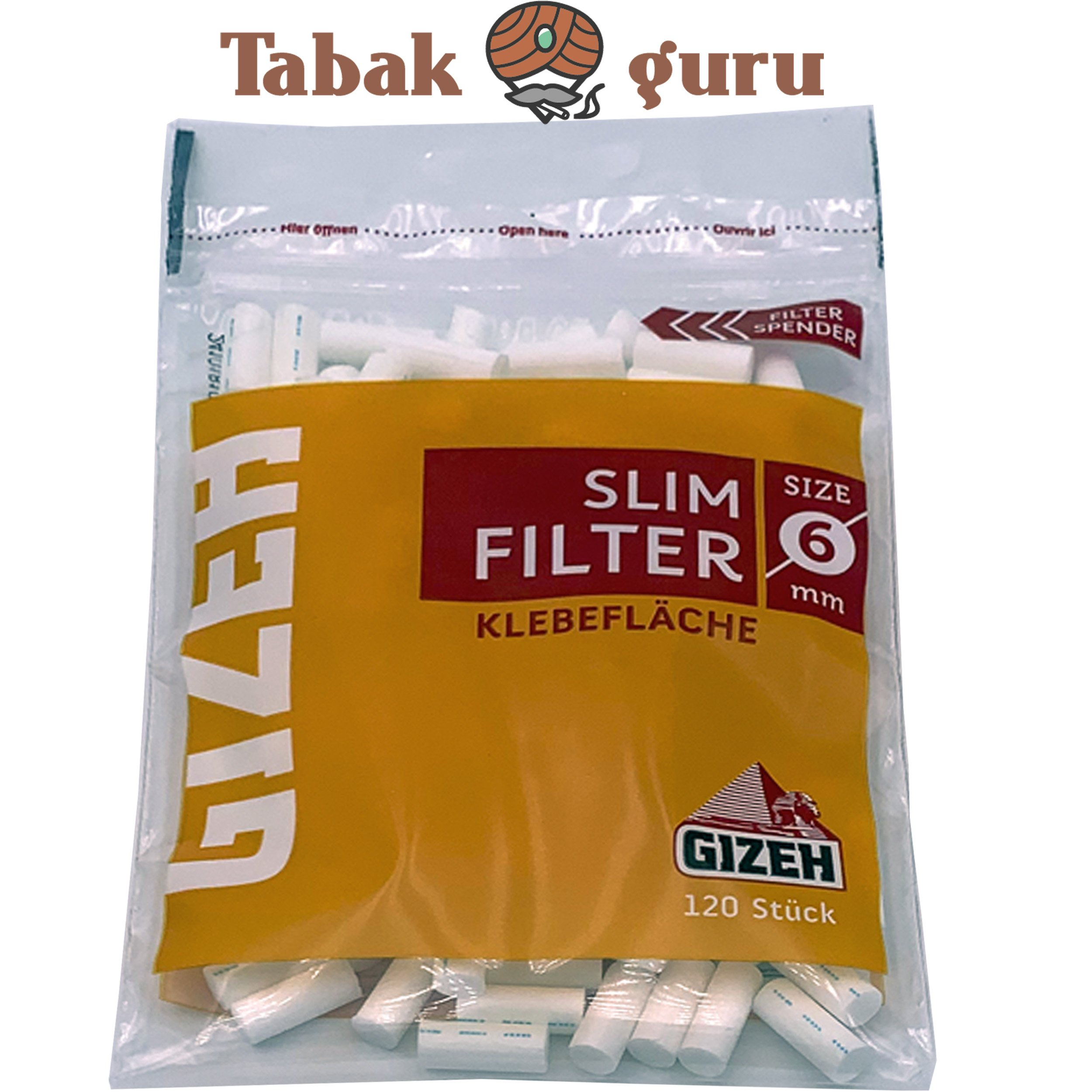 Gizeh Slim Filter 1 Päckchen a 120 Filter