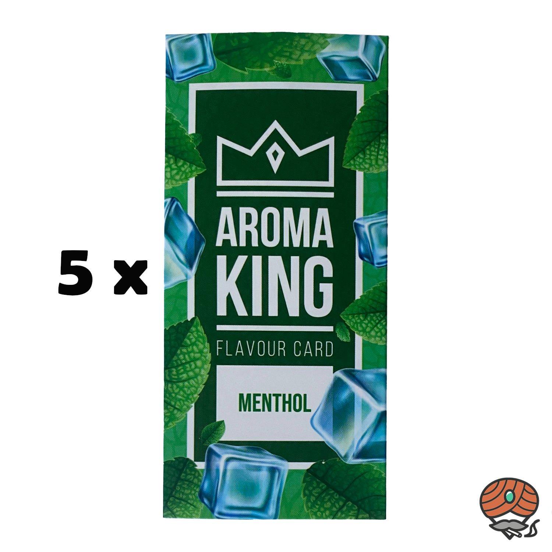 5 x Aromakarte MENTHOL von Aroma King - Aroma für Tabak & Zigaretten