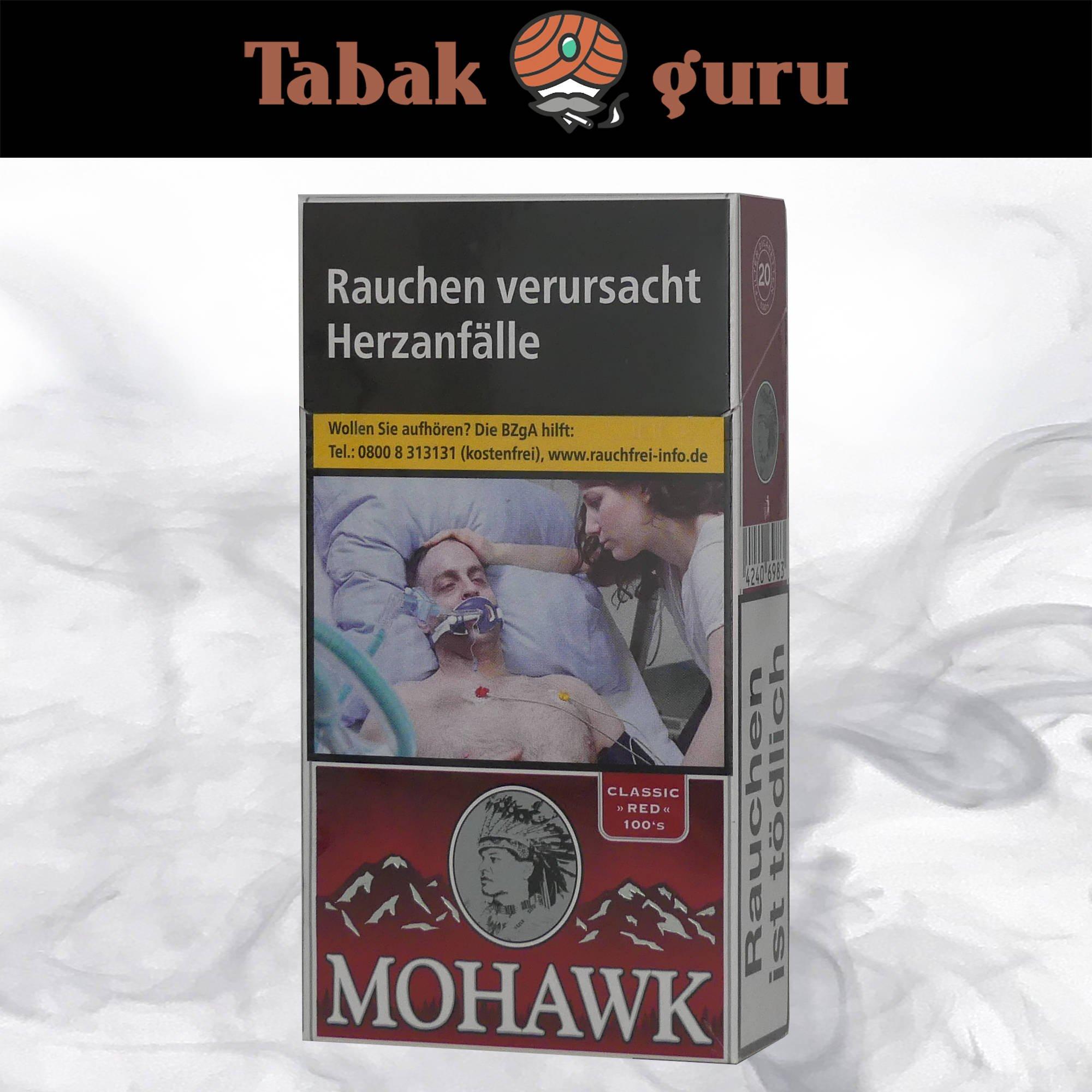 Mohawk Classic Red Filterzigaretten 100`S