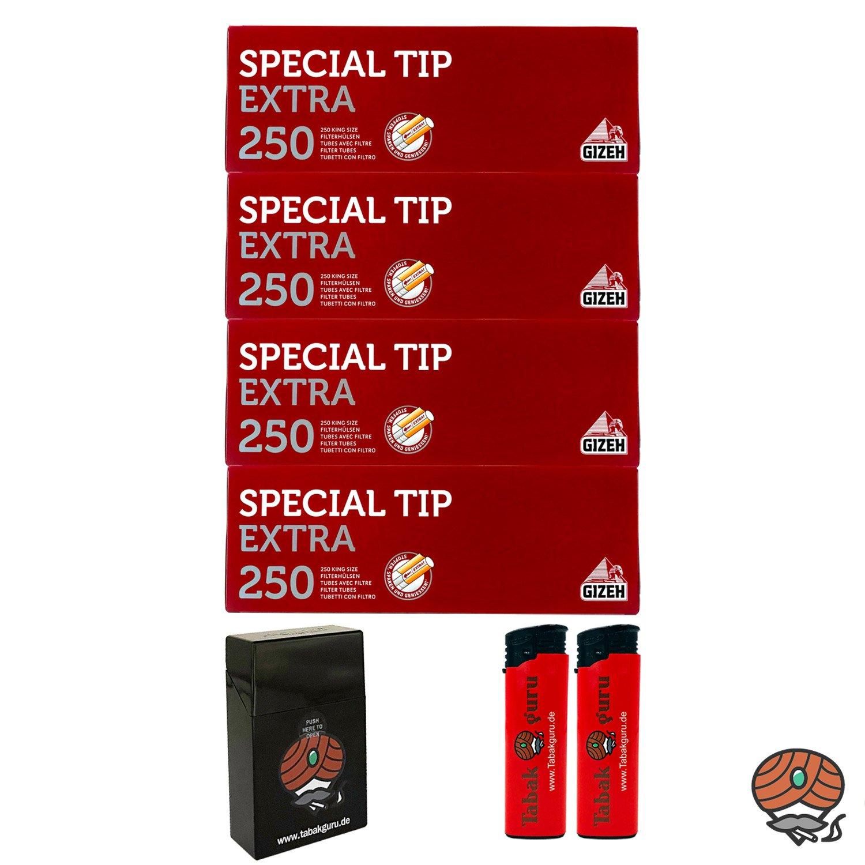 4 Pack Gizeh Special Tip Extra Filterhülsen + Zubehörartikel