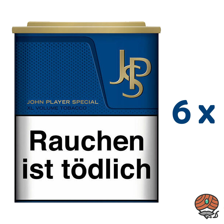 6 x JPS John Player Special Blue / Blau XL Volumentabak Dose à 42 g