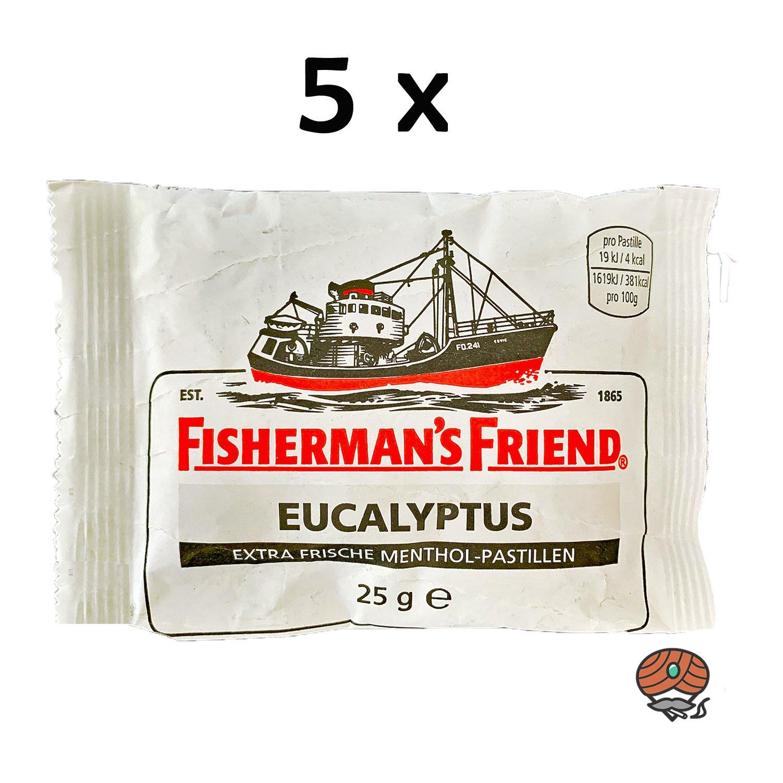 5x Fisherman`s Friend Menthol-Pastillen Eucalyptus
