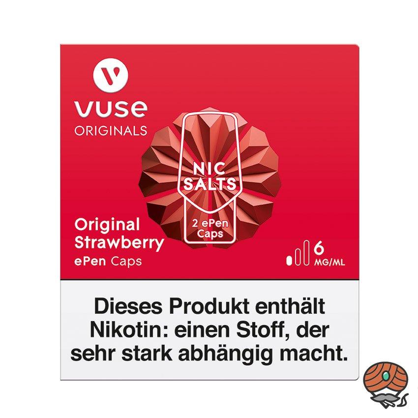 Vuse ePen Caps 1x Original Strawberry 6 mg/ml á 2 Caps (ehem. Vype ePen3)