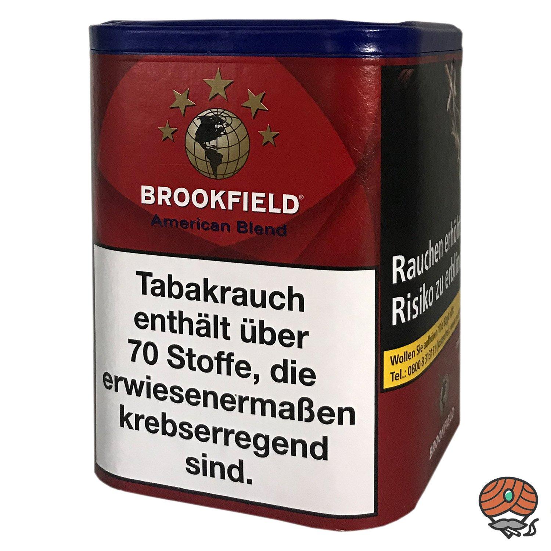 Brookfield American Blend Zigarettentabak, Feinschnitt, 120g Dose