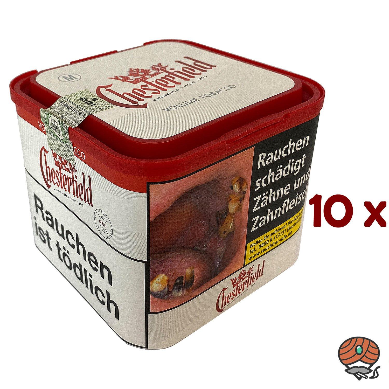10x Chesterfield Red Volumentabak M Dose à 42g
