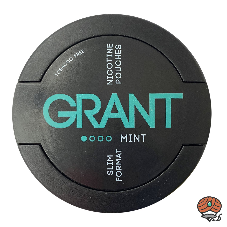GRANT Mint Kautabak / Nicotine Pouches Slim Format Stärke 1