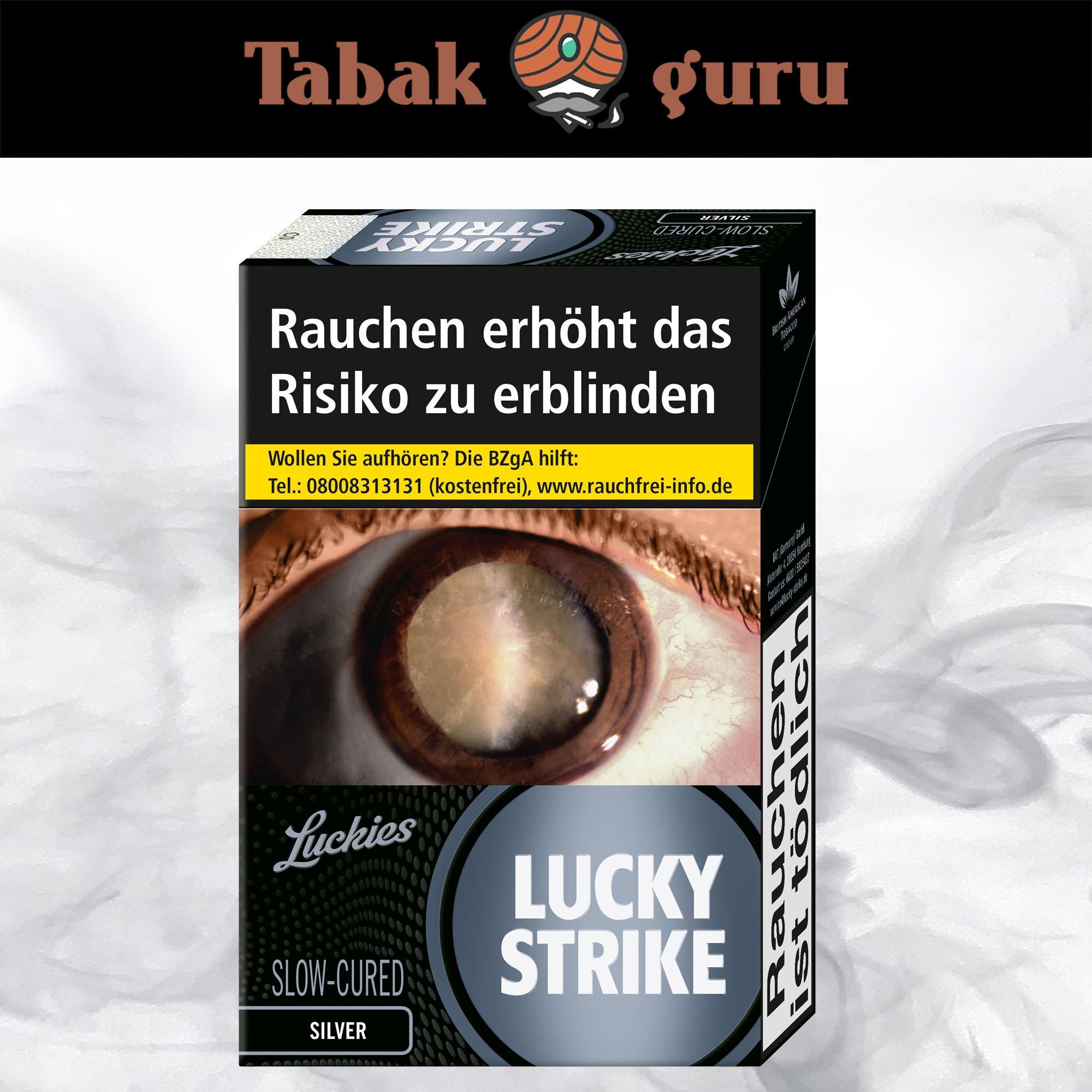 Lucky Strike Silver Zigaretten (1x20 Stück)
