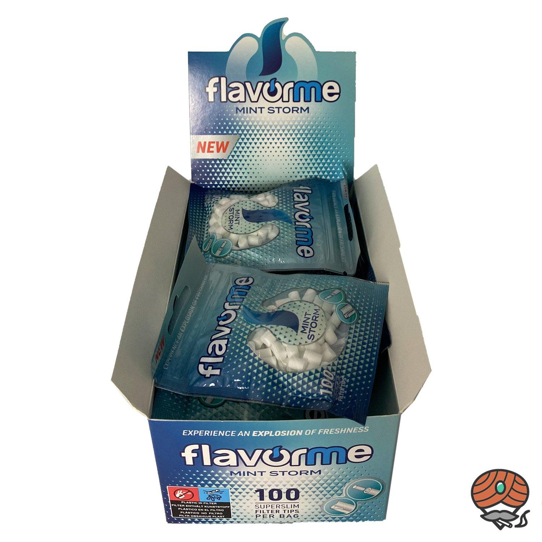 20 x Flavorme Superslim Filter Tips Menthol, 5 mm, à 100 Feinfilter