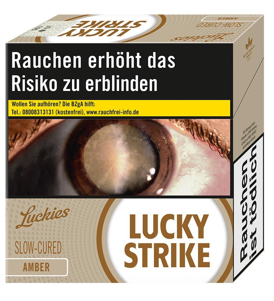 Lucky Strike Amber Zigaretten Jumbo Box Inhalt 49 Stück