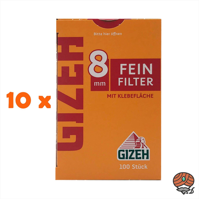 Gizeh Feinfilter 8 mm 10 Schachteln à 100 Feinfilter