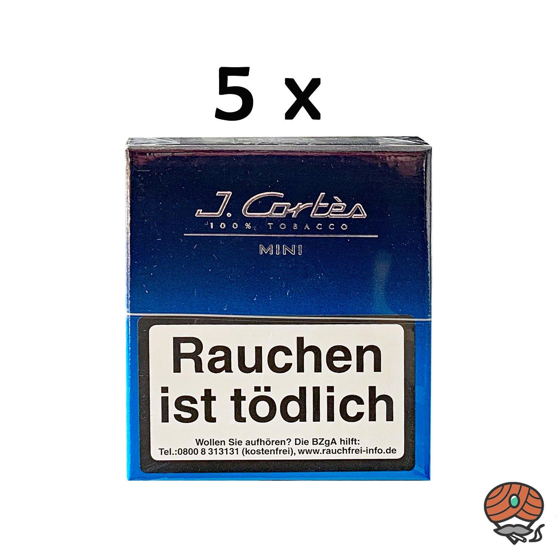 5 Schachteln J. Cortès Blaue Linie Mini Zigarillos (100% Tabak)