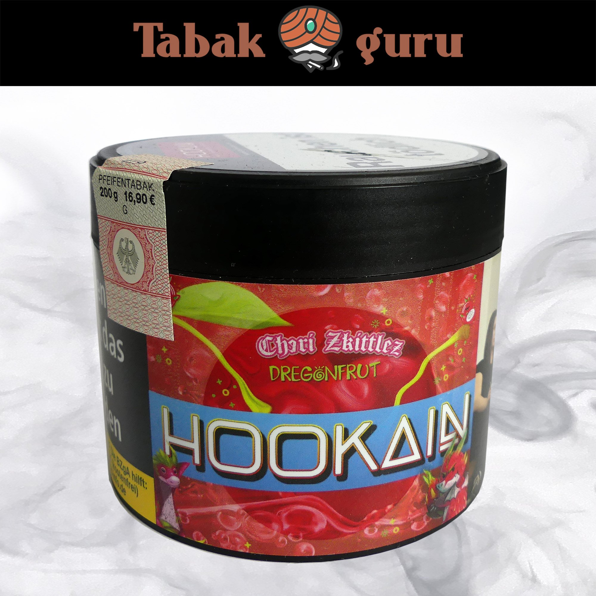 Hookain Cheri Zkittlez & Dregonfrut 200g - Shisha Tabak