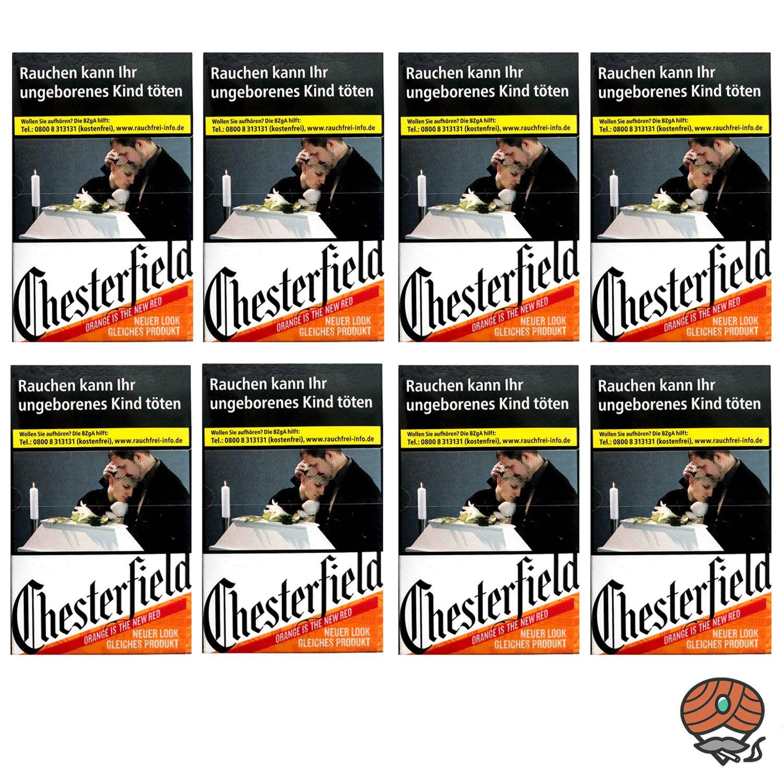 1 Stange Chesterfield ORIGINAL Zigaretten (ehem. Red) XL Schachtel 8x25 Stück