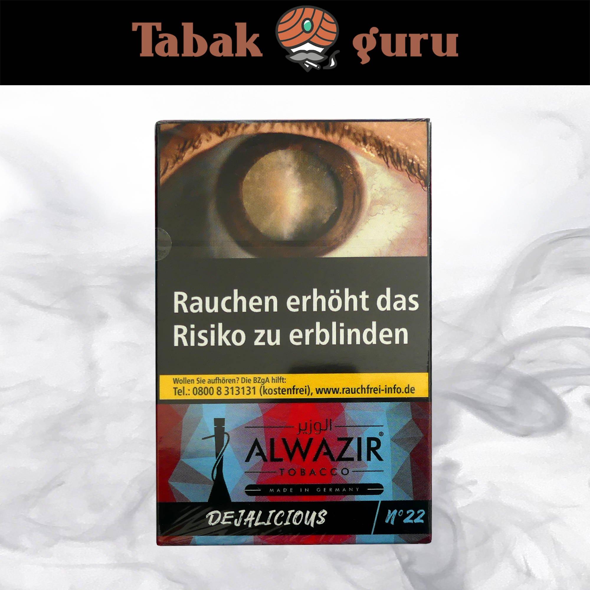 Alwazir Shisha Tabak - No. 22 - DEJALICIOUS 50g