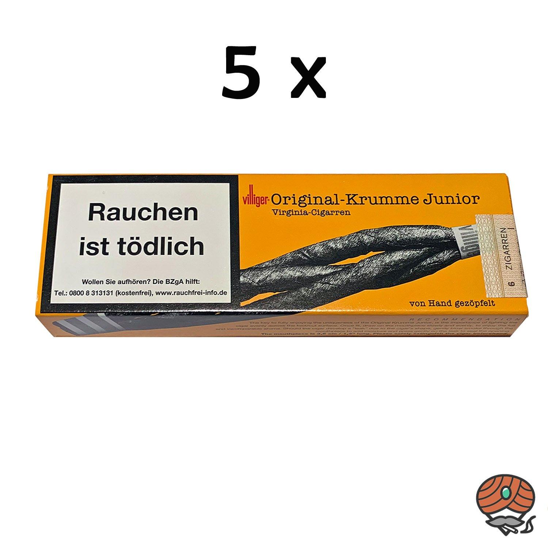 5 Schachteln Villiger Original Krumme-Junior
