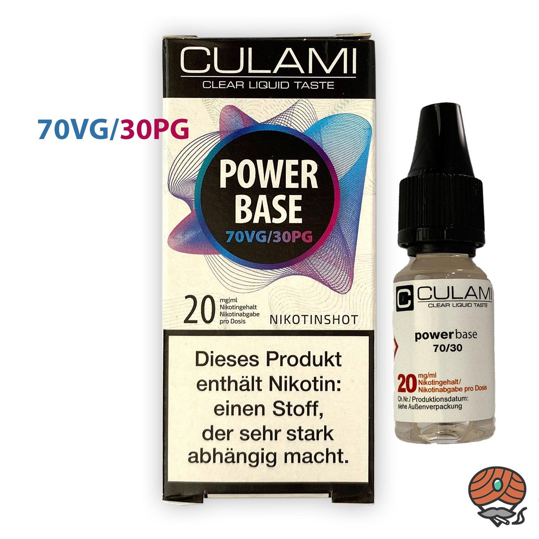 Nikotinshot 20 mg/ml, 70VG/30PG, Power Base von Culami, 10 ml