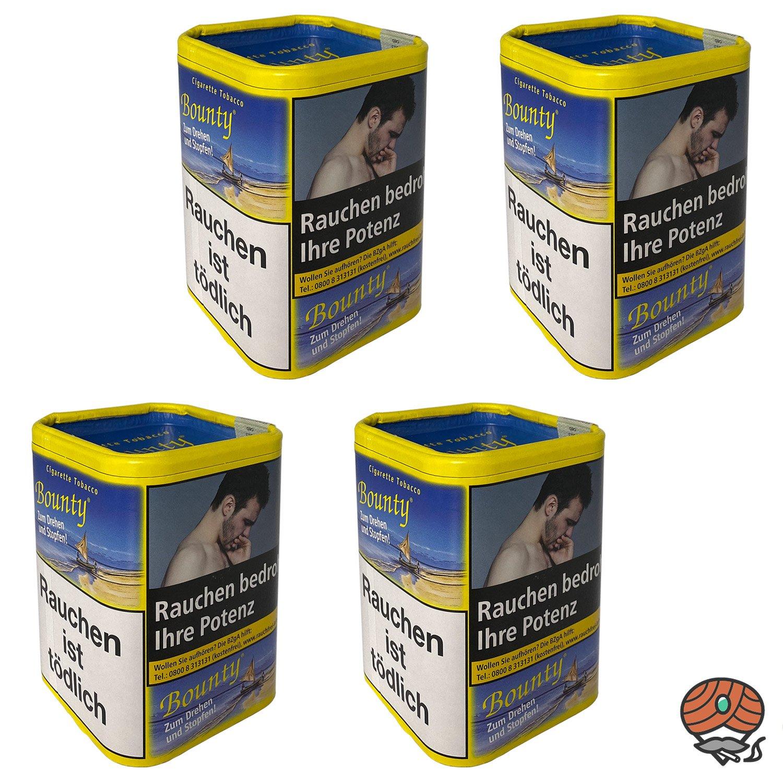 4x Bounty Feinschnitt-Tabak / Zigarettentabak Dose à 200 g