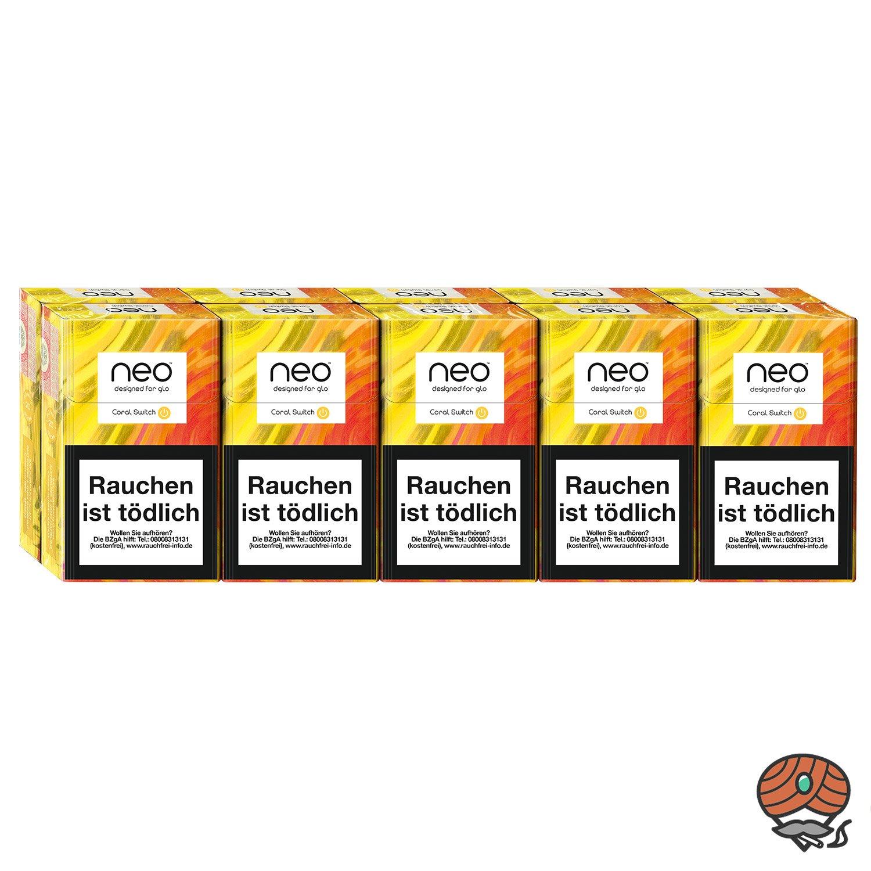 neo Coral Switch für GLO - 10 x Tabak Sticks à 20 Stück