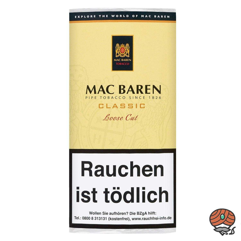 Mac Baren Classic Loose Cut Pfeifentabak 50g Pouch