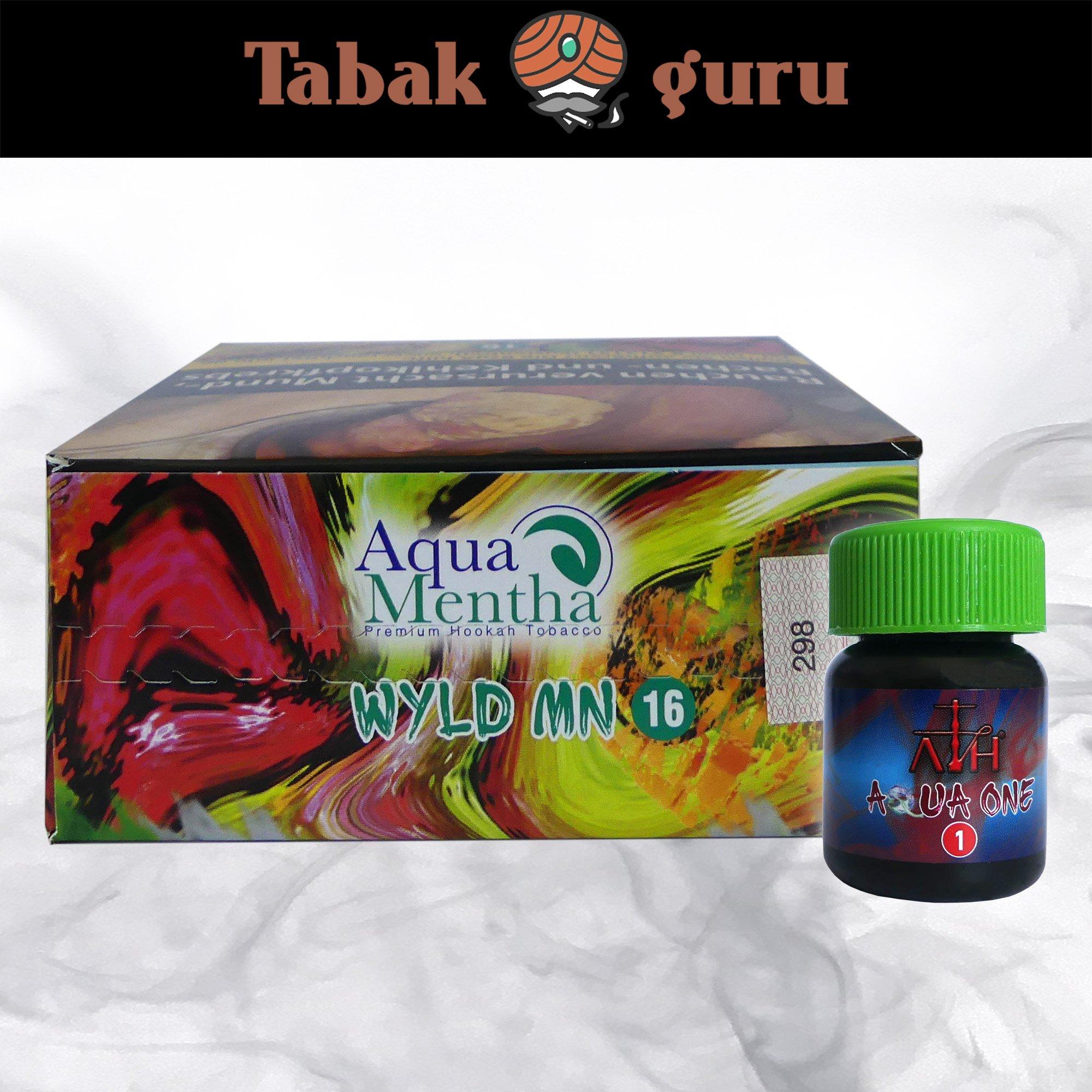 Aqua Mentha WYLD MN #16 200g Shisha Tabak + ATH Aqua One Mix