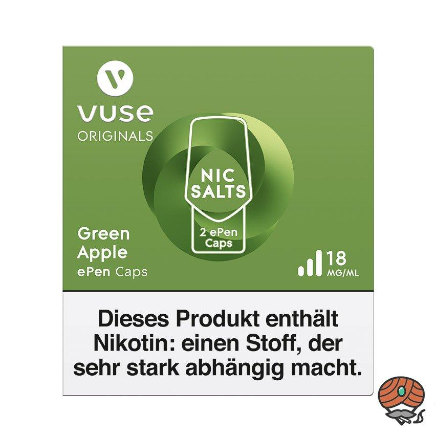 Vuse ePen Caps 1x Green Apple 18 mg/ml à 2 Caps (ehem. Vype ePen3)