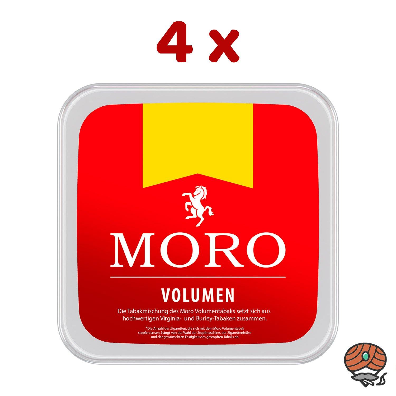 4 x Moro Rot Volumentabak Box à 225 g