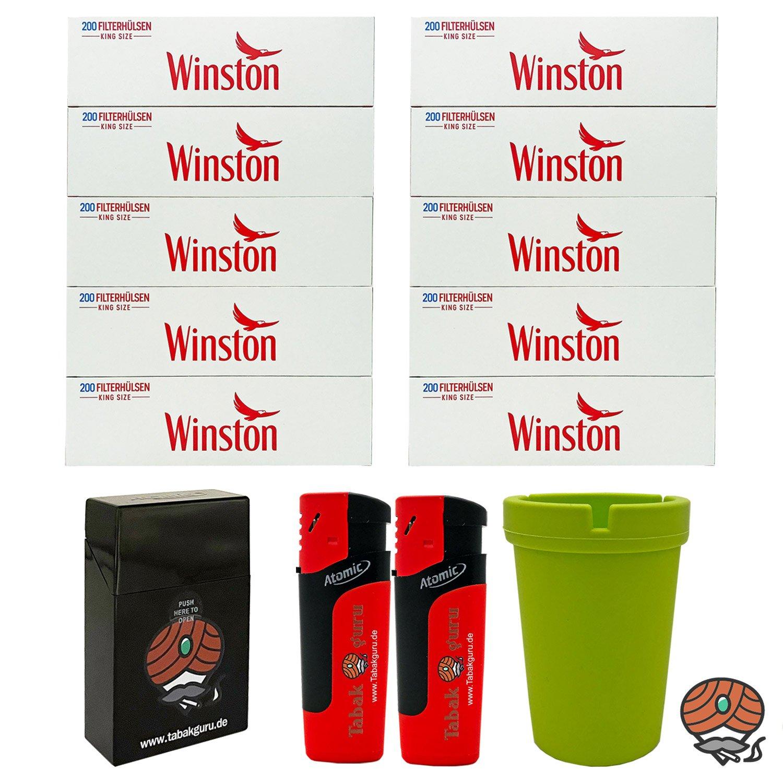 10 Pack Winston Filterhülsen + Autoaschenbecher + Zubehörartikel