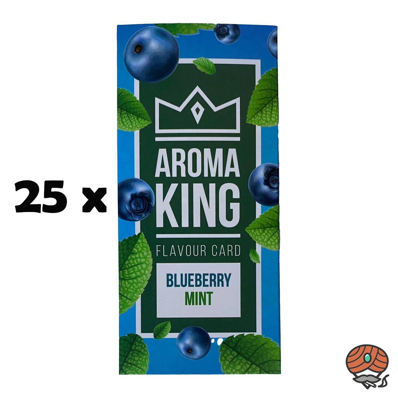 25 x Aromakarte BLUEBERRY MINT von Aroma King - Aroma für Tabak & Zigaretten