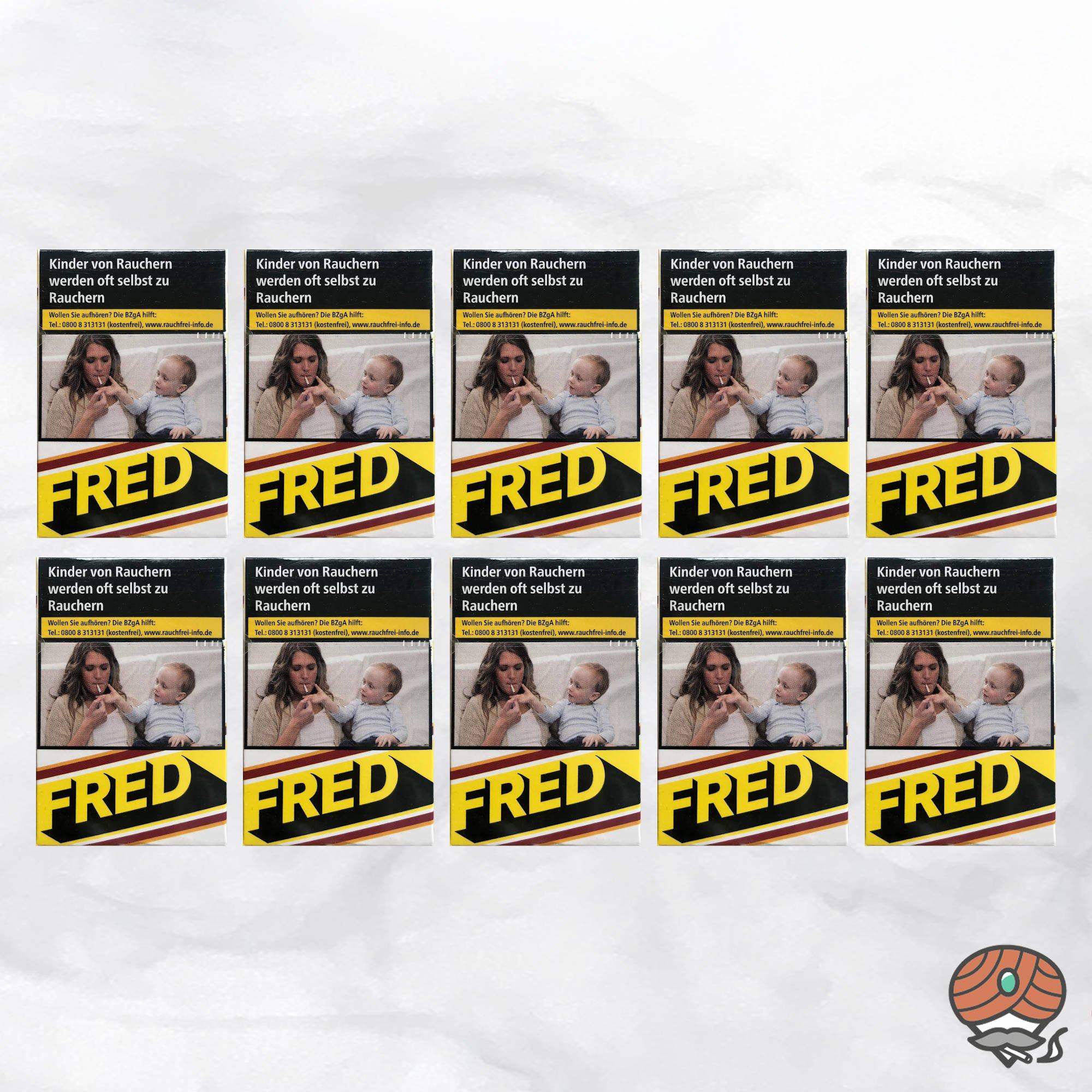 10 x Fred Jaunes Zigaretten à 20 Stück - 1 Stange