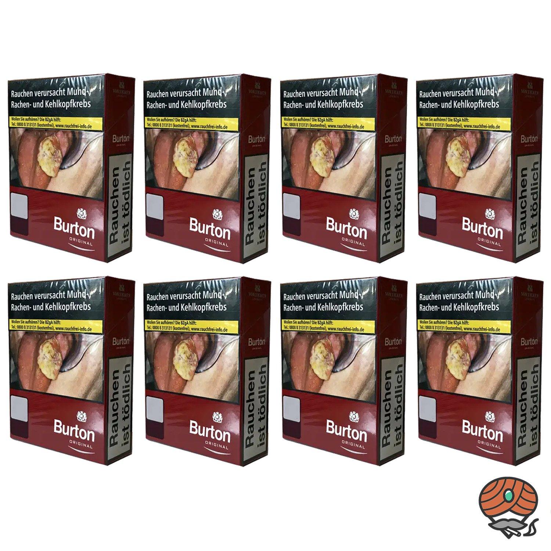 1 Stange Burton Original Red / Rot Zigaretten XL Schachtel 8x24 Stück