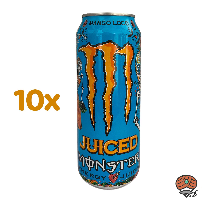 10 x Monster Punch Mango Loco Energy Drink, 500 ml Dose