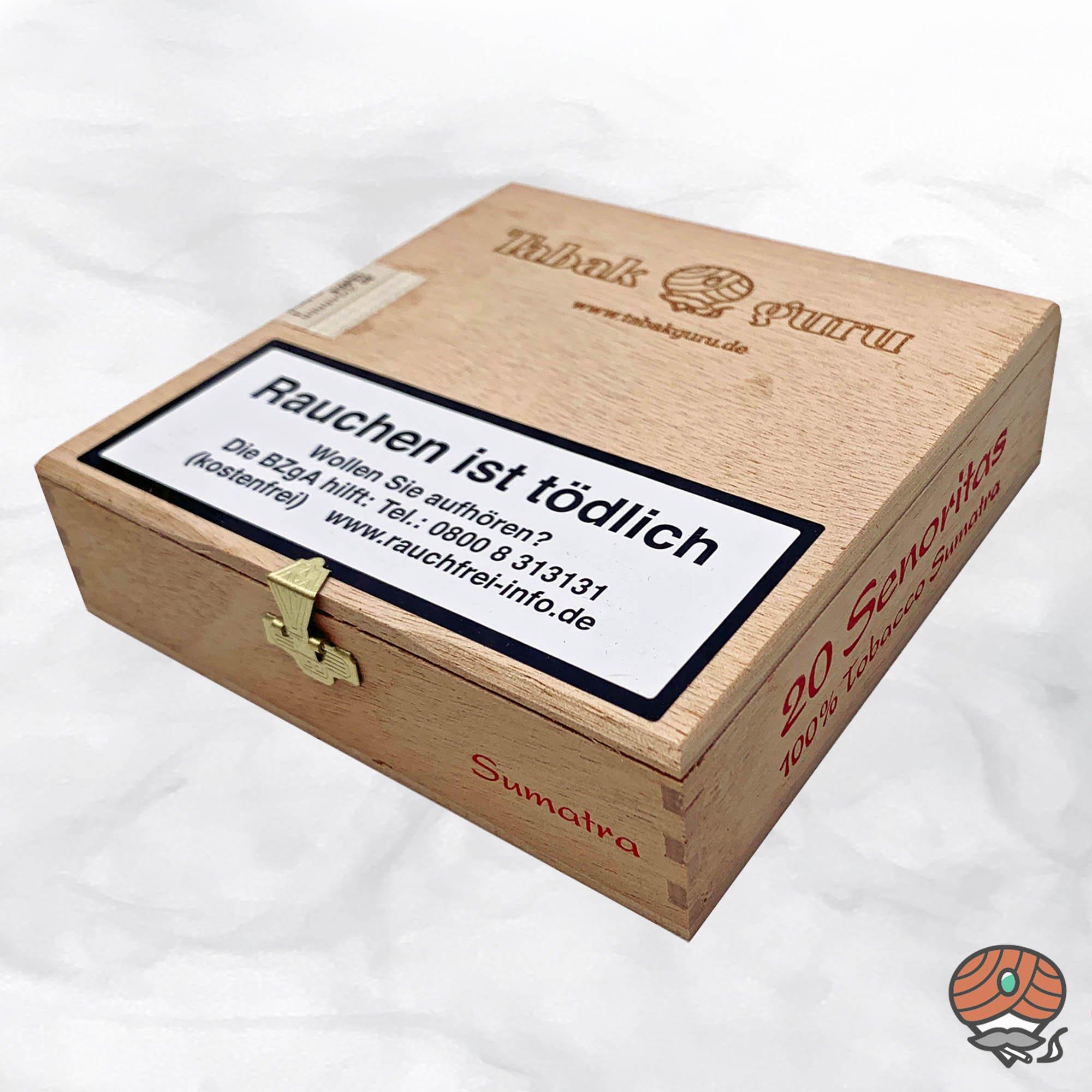 20 Tabakguru Senoritas Sumatra Zigarren 100 % Tabak