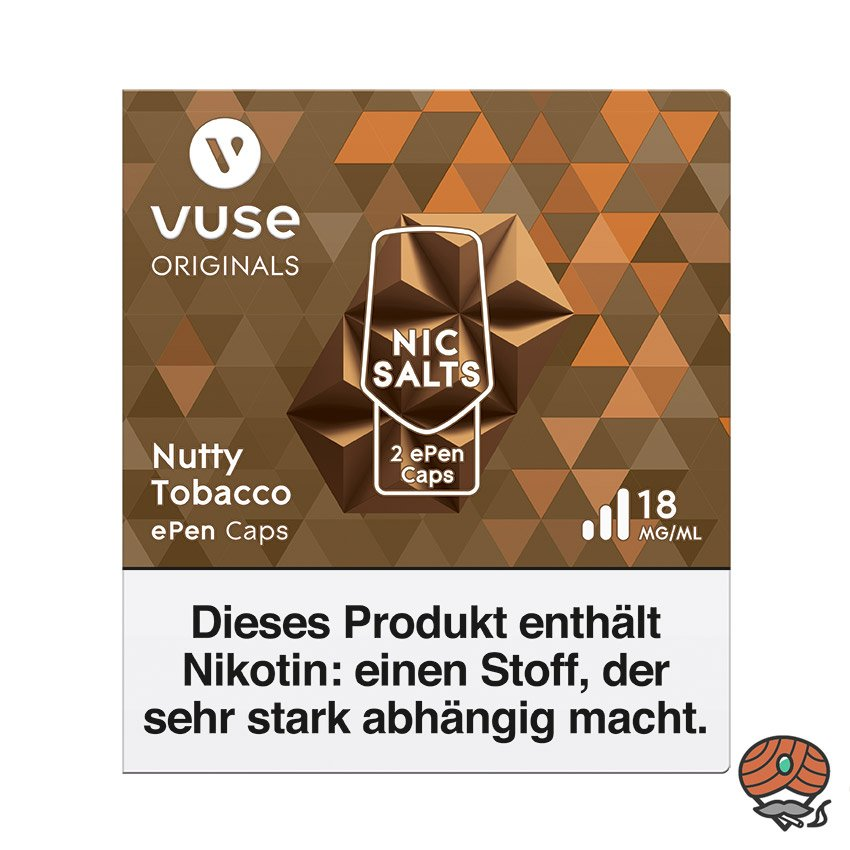 Vuse ePen Caps 1x Nutty Tobacco 18 mg/ml à 2 Caps (ehem. Vype ePen3 Master Blend)