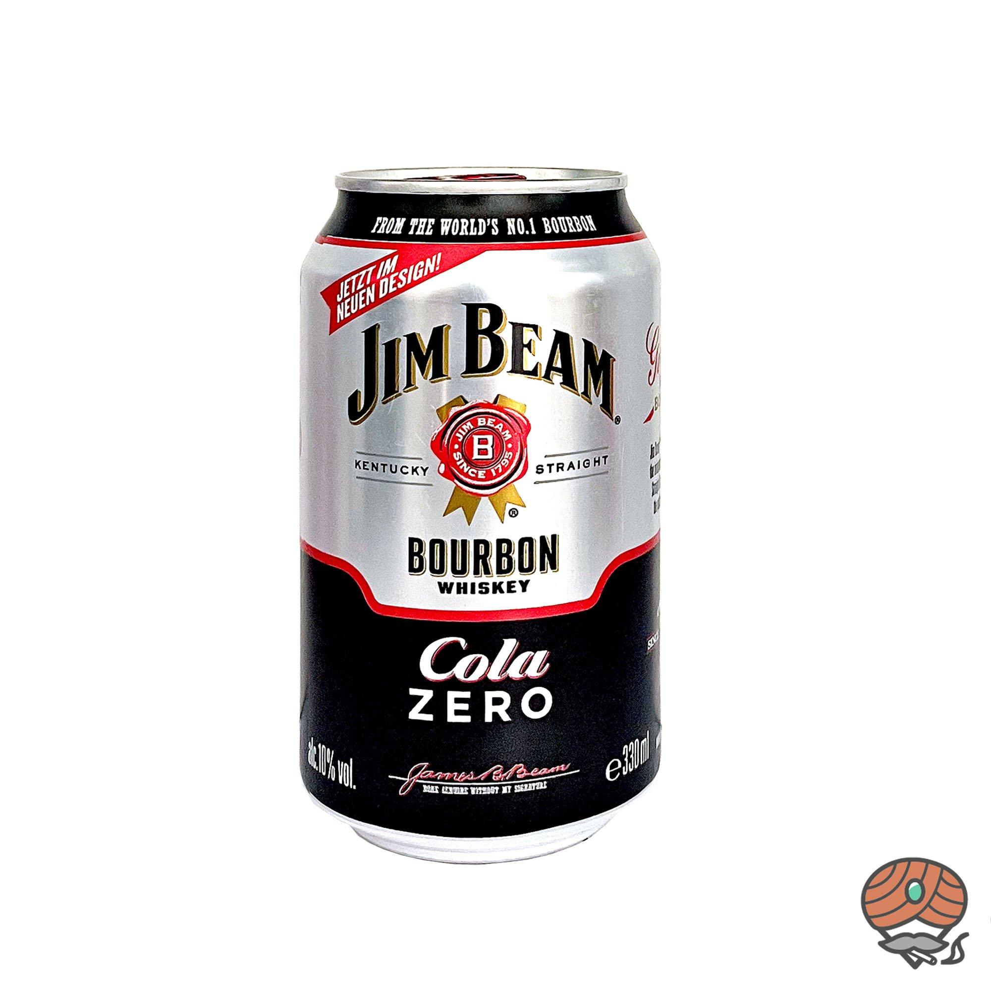 Jim Beam Bourbon Whiskey + Cola Zero 0,33 l inkl.0,25 Euro Pfand (alc. 10% Vol)