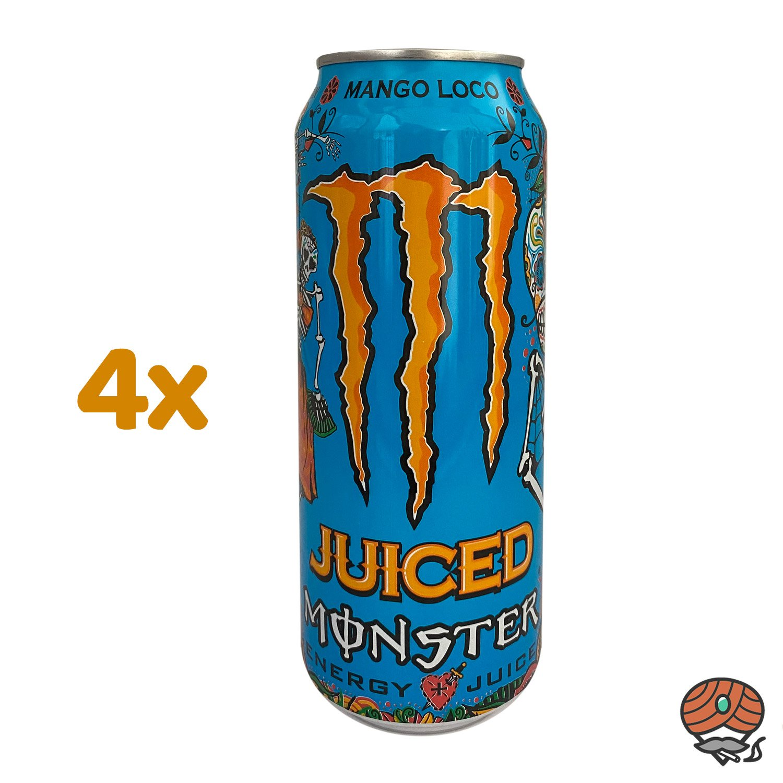 4 x Monster Punch Mango Loco Energy Drink, 500 ml Dose