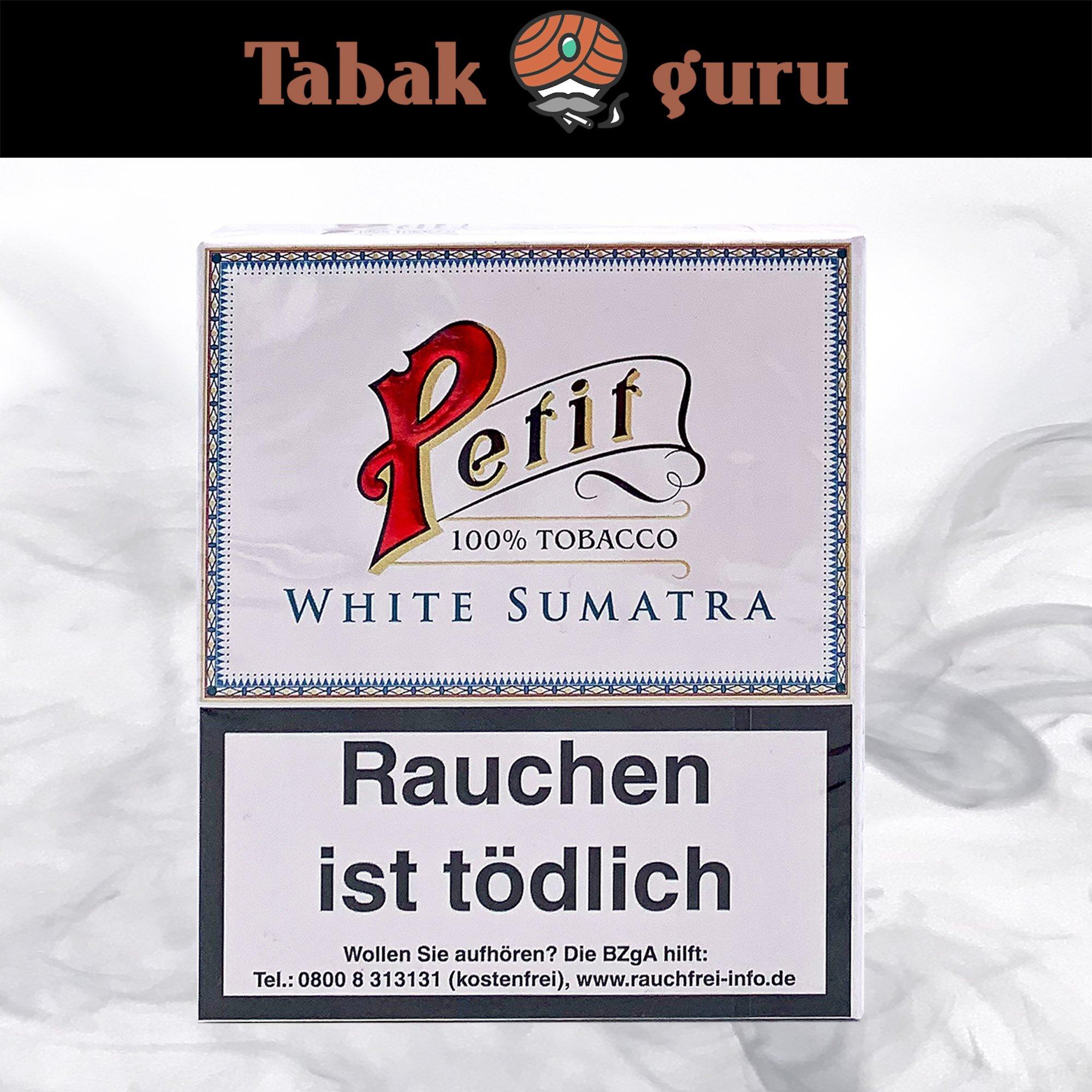 Petit Nobel White Sumatra Zigarillos Inhalt 20 Stück