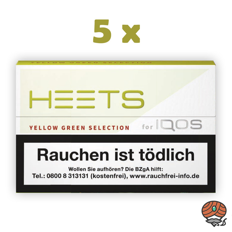 5x HEETS Yellow Green von Marlboro für IQOS Tabak Sticks à 20 Stück