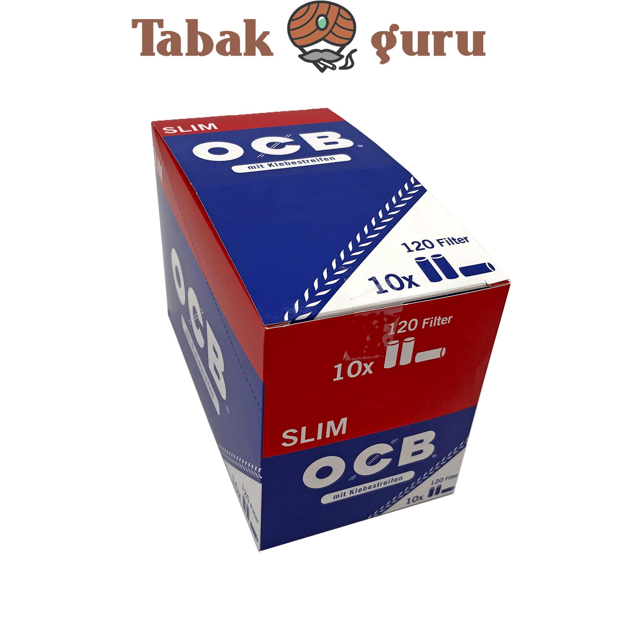 OCB Slim Filter mit Klebestreifen 10x 120 Stück