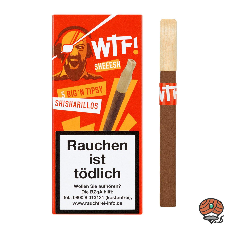 5 WTF! Big´n Tipsy Shisharillos mit Tipsy Mundstück SHEEESH (Vanille)