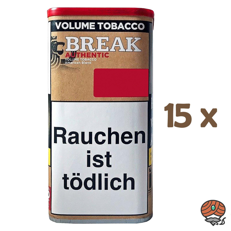 15x Break Authentic Volumentabak / Tabak XXL Dose à 75g