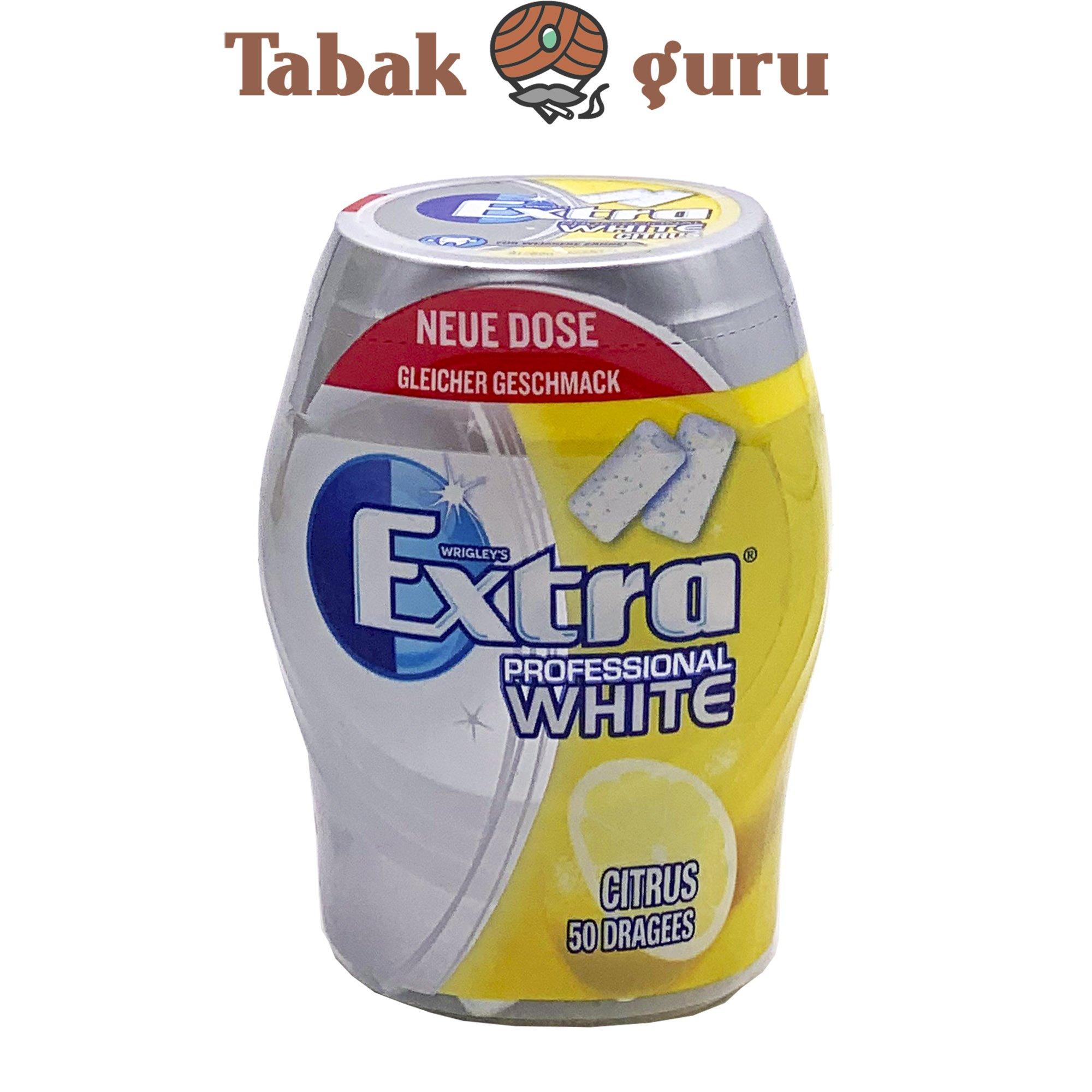Wrigleys Extra Professional White Citrus Geschmack Inhalt 50 Dragees