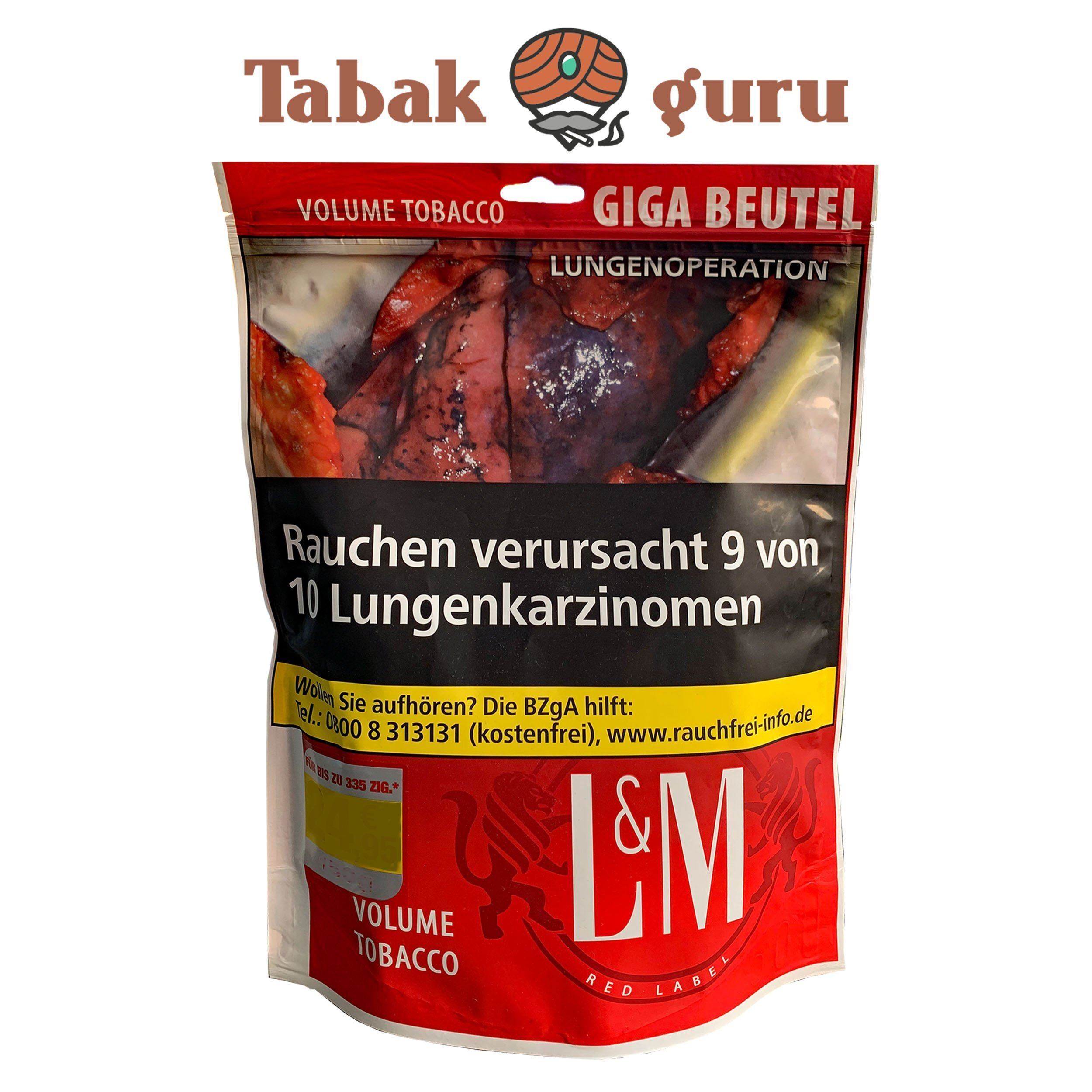 L&M Red Label  / Rot Giga Beutel Volumentabak 125g Beutel