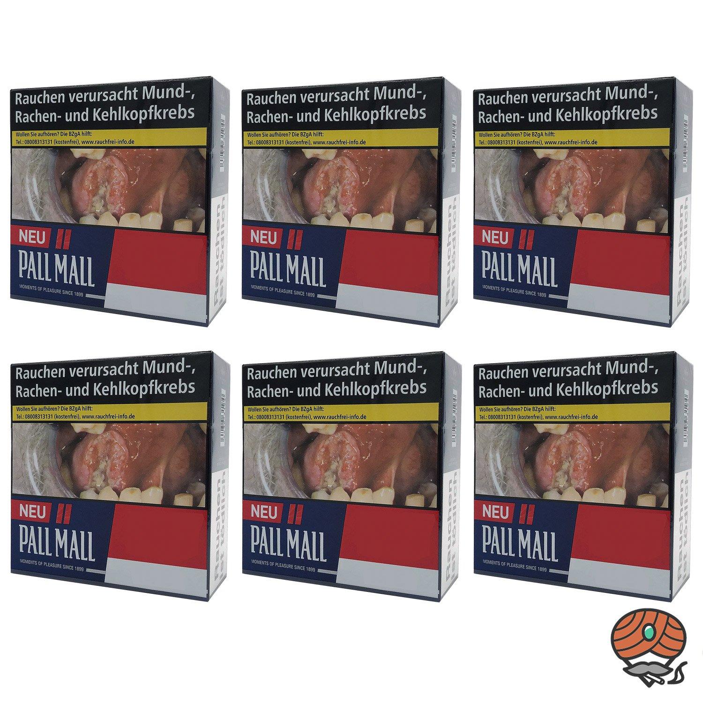 1 Stange Pall Mall Red / Rot Zigaretten Jumbo Box 6x49 Stück